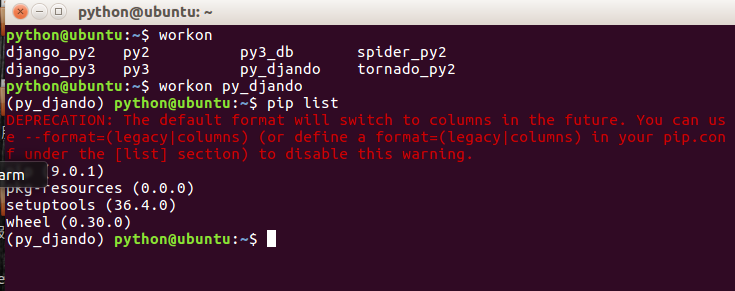 pip 警告!The default format will switch to columns in the future