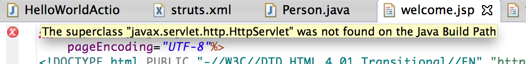 The superclass javax.servlet.http.HttpServlet was not found on the Java Build Path
